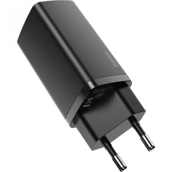 Baseus Адаптер за зареждане GaN2 Lite Quick Charger Black