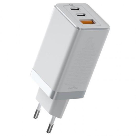 Baseus Адаптер за зареждане GaN2 Pro 65W White