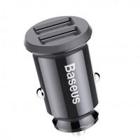 Baseus Зарядно за кола Grain Car Charger Black