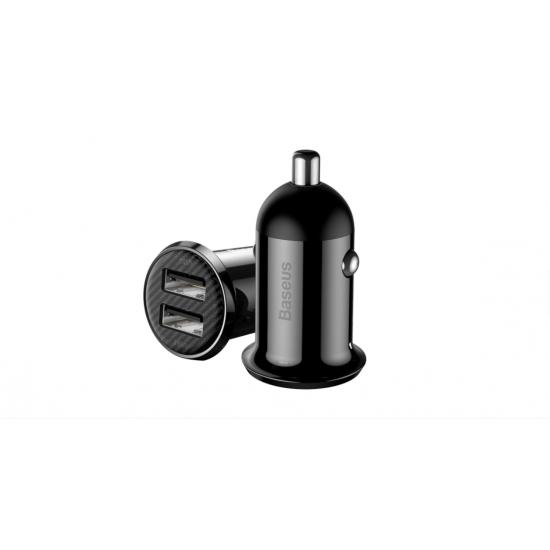 Baseus Зарядно за кола Grain Pro Black