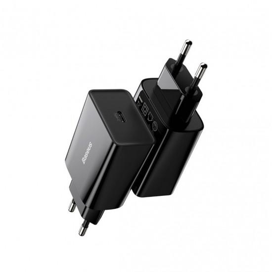 Baseus Адаптер за зареждане Speed Mini 20W Black