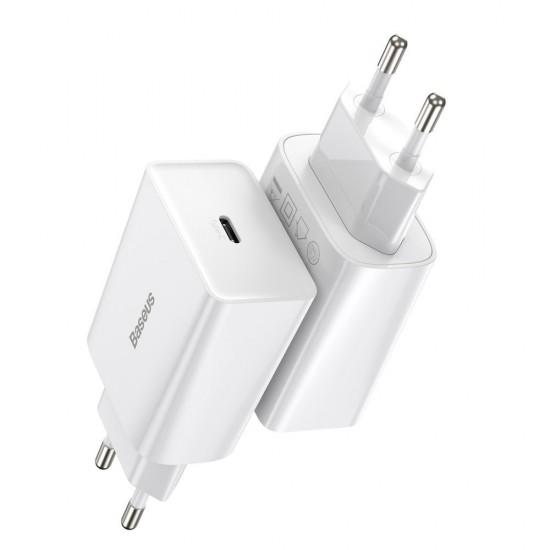 Baseus Адаптер за зареждане Speed Mini 20W White