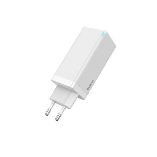 Baseus Адаптер за зареждане GaN2 Lite  65W White
