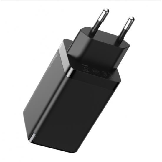 Baseus Адаптер за зареждане GaN2 Pro 65W Black
