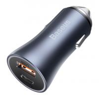 Baseus Зарядно за кола Golden Contactor Pro Dual 40W Dark Gray
