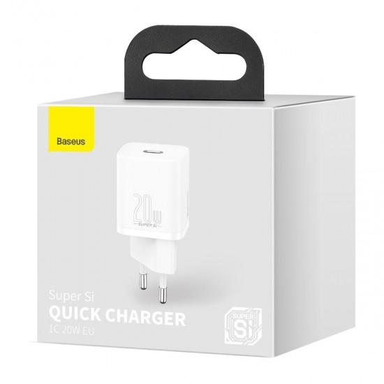 Baseus Адаптер за зареждане Super Si Quick Charger White