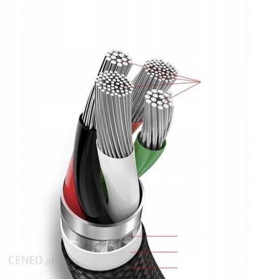 Baseus Кабел за зареждане Rapid Series Type-C 3-1 Cable 1.2M Silver+Black