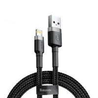 Baseus Кабел за зареждане cafule Cable USB For lightning 2.4A 1M Gray+Black