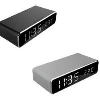 Gembird Цифров часовник с будилник и безжично зареждане на телефони DAC-WPC-01-S