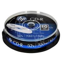 HP CD-R 80min/700mb шпиндел 10 бр.