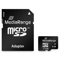 MediaRange Micro SDHC Card 8GB Class 10 incl. Adapter