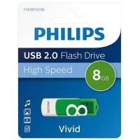 Philips USB 2.0 8 GB Vivid Edition Green