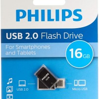 Philips USB 2.0 16GB 2 in 1 Micro USB