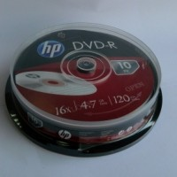 DVD-R HP ( Hewlett Packard ) 4.7Gb./16X ( ш-л 10 )