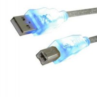 MediaRange Printer Connection Cable 1.8M USB 2.0 with blue LED