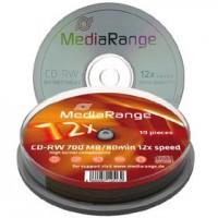 CD-RW MediaRange 80min./ 700mb. ( spindle 10 )