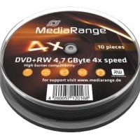 DVD+RW MediaRange 4.7Gb./4X ( spindle 10 )