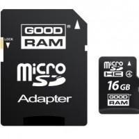 GoodRam  Micro SDHC Card  16GB (Class 4) with SD adaptor