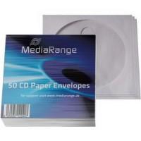 MediaRange Хартиен плик за CD/DVD/BDR 50бр.