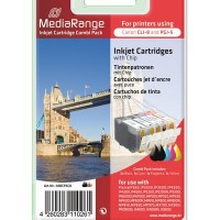 MediaRange MRCP 5C8 ( Canon )  for use with: PixmaIP360,IP3300,IP3500,IP4200, IP4300,IP4500,IP5200,IP5200R,IP5300, IP6600D,IP6700D,MP500,MP520,MP530, MP600,MP600R,MP610,MP800,MP800R, MP810,MP830,MP970,MX700,MX850, PRO9000, IX4000, IX4000R, IX5000