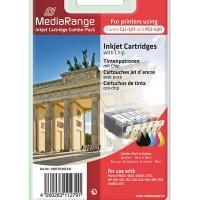 MediaRange MRCP 520 C 521 ( Canon )  for use with: Pixma IP3600, 4600, 4600X, 4700, MP 540, 550, 560, 620, 630, 640, 980, 990, MX860, 870